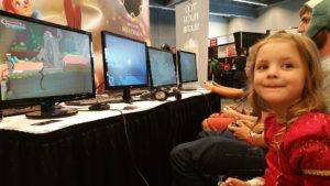 A little Zia stopped by our booth to play!